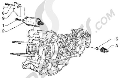 Piaggio Super Hexagon GTX 180 1998-2005 Arranque electrico