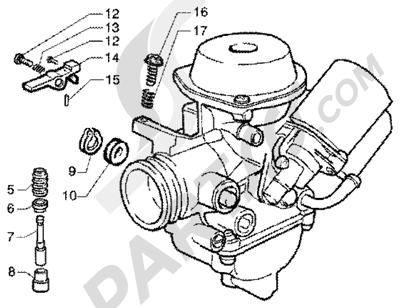 Piaggio Super Hexagon GTX 180 1998-2005 Carburador