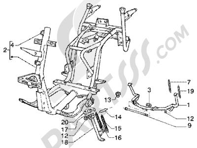 Piaggio Super Hexagon GTX 180 1998-2005 Chasis