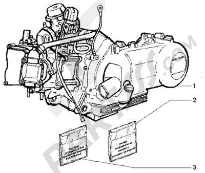 Piaggio Super Hexagon GTX 180 1998-2005 Motor