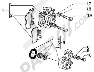 Piaggio Super Hexagon GTX 180 1998-2005 Pinza freno anterior
