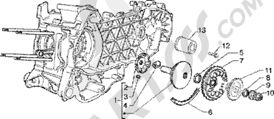 Piaggio Super Hexagon GTX 180 1998-2005 Polea motriz