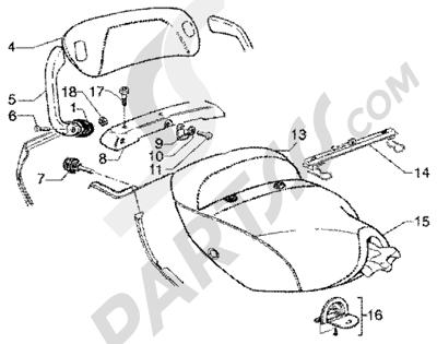 Piaggio Super Hexagon GTX 180 1998-2005 Sillin