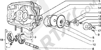 Piaggio Super Hexagon GTX 180 1998-2005 Soporte brazo oscilante