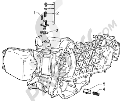 Piaggio Super Hexagon GTX 180 1998-2005 Tensor de cadena-valvula by-pass