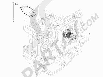 Piaggio Typhoon 125 4T 2V E3 (USA) 2011-2015 Arranque - Arranque electrico