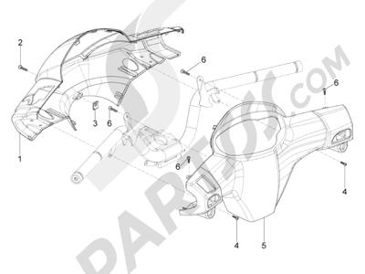 Piaggio Typhoon 125 4T 2V E3 (USA) 2011-2015 Coberturas manillar
