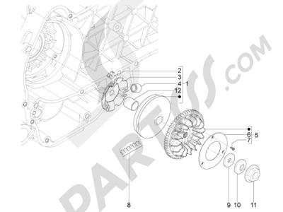 Piaggio Typhoon 125 4T 2V E3 (USA) 2011-2015 Polea conductora