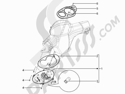 Piaggio Typhoon 125 4T 2V E3 (USA) 2011-2015 Tablero de instrumentos - Cruscotto