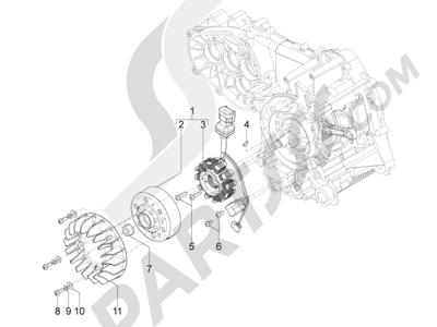 Piaggio Typhoon 125 4T 2V E3 (USA) 2011-2015 Volante magnetico