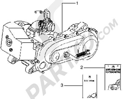Piaggio Typhoon 125 X 1998-2005 Motor