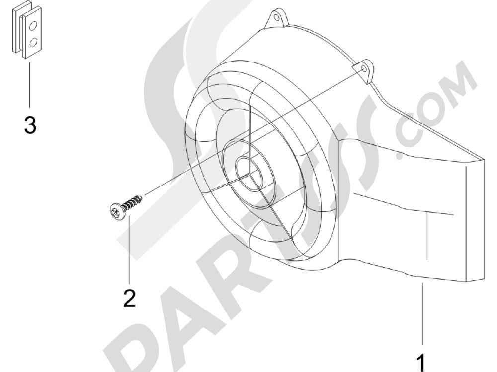Tapa volante magnetico - Filtro de aceite Piaggio Typhoon 50 2007-2008