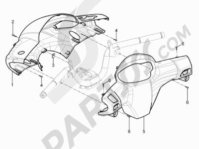 Piaggio Typhoon 50 2T E3 (CH) 2011 Coberturas manillar