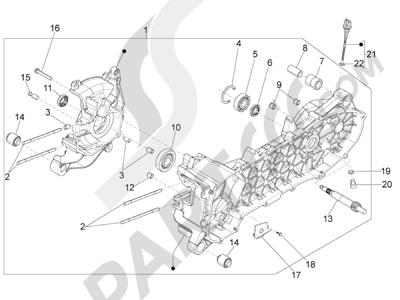 Piaggio Typhoon 50 4T 4V E2 (USA) 2012-2015 Cárter