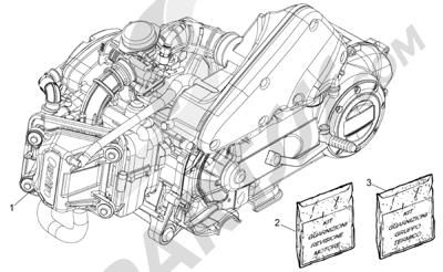 Piaggio Typhoon 50 4T 4V E2 (USA) 2012-2015 Motor completo