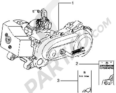 Piaggio Typhoon 50 X 1998-2005 Motor