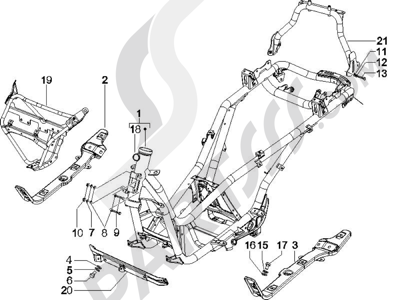 Piaggio X Evo 125 Euro 3 2007-2016 Chasis carrocería