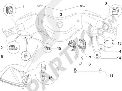 Piaggio X Evo 125 Euro 3 2007-2016 Conmutadores - Conmutadores - Pulsadores - Interruptores