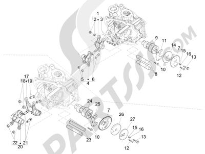 Piaggio X Evo 125 Euro 3 2007-2016 Grupo soporte balancines