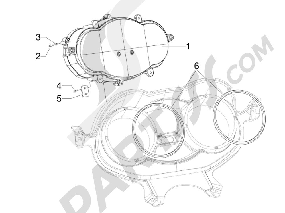 Tablero de instrumentos - Cruscotto Piaggio X Evo 125 Euro 3 (UK) 2007-2016