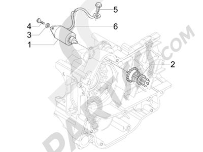 Piaggio X Evo 125 Euro 3 (UK) 2007-2016 Arranque - Arranque electrico