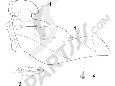 Piaggio X Evo 125 Euro 3 (UK) 2007-2016 Sillín asientos