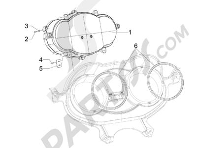 Piaggio X Evo 125 Euro 3 (UK) 2007-2016 Tablero de instrumentos - Cruscotto