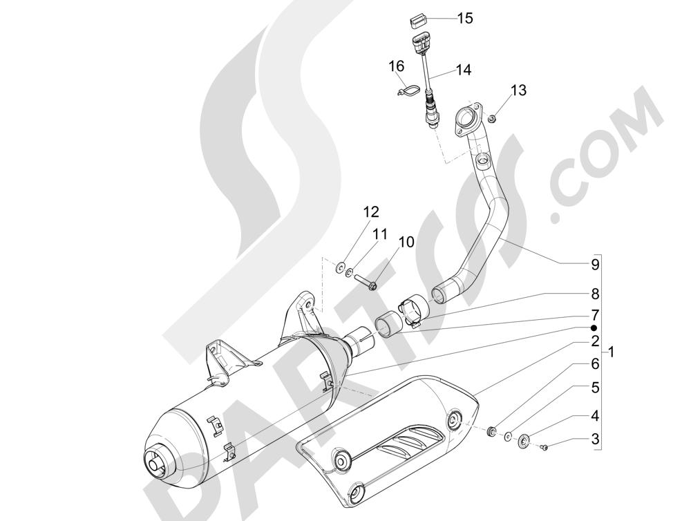 Silenciador Piaggio X Evo 250 Euro 3 2007-2016