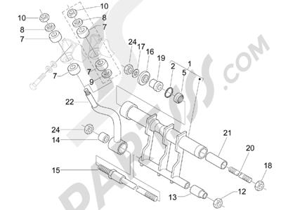 Piaggio X8 400 ie Euro 3 2007-2011 Brazo oscilante