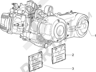 Piaggio X8 400 ie Euro 3 2007-2011 Motor completo