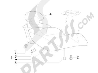 Piaggio X8 400 ie Euro 3 2007-2011 Sillín asientos - Bolsa herramienta