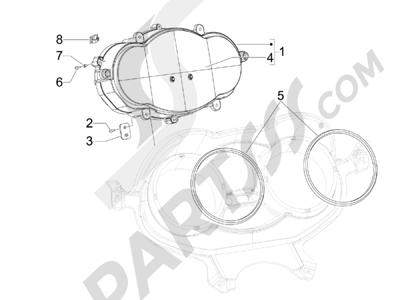 Piaggio X8 400 ie Euro 3 2007-2011 Tablero de instrumentos - Cruscotto