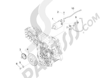 Piaggio X10 125 4T 4V I.E. E3 2012-2013 Arranque - Arranque electrico