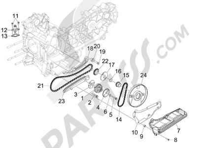 Piaggio X10 125 4T 4V I.E. E3 2012-2013 Bomba de aceite