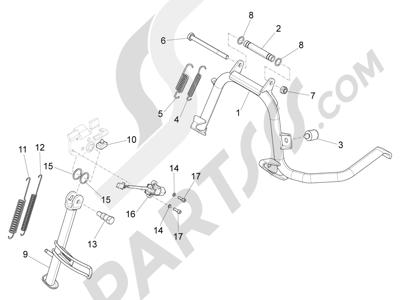 Piaggio X10 125 4T 4V I.E. E3 2012-2013 Caballete s
