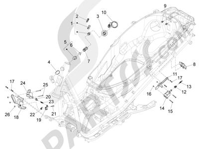 Piaggio X10 125 4T 4V I.E. E3 2012-2013 Cerraduras
