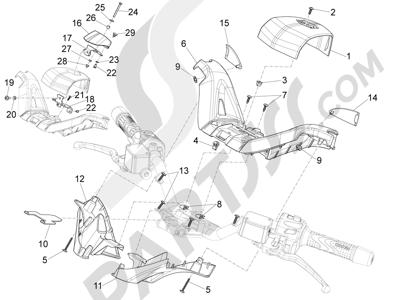 Piaggio X10 125 4T 4V I.E. E3 2012-2013 Coberturas manillar