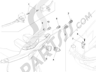 Piaggio X10 125 4T 4V I.E. E3 2012-2013 Conmutadores - Conmutadores - Pulsadores - Interruptores