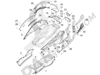 Piaggio X10 125 4T 4V I.E. E3 2012-2013 Cubiertas laterales - Spoiler