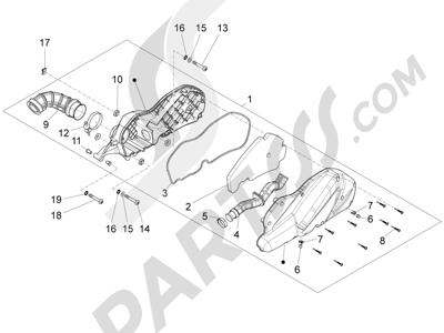 Piaggio X10 125 4T 4V I.E. E3 2012-2013 Filtro de aire