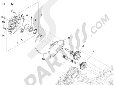 Piaggio X10 125 4T 4V I.E. E3 2012-2013 Grupo reductor
