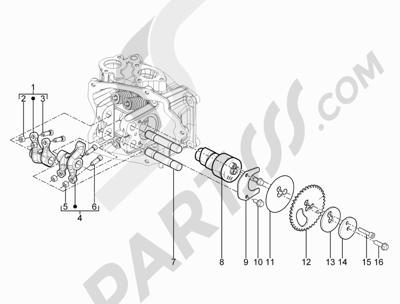 Piaggio X10 125 4T 4V I.E. E3 2012-2013 Grupo soporte balancines