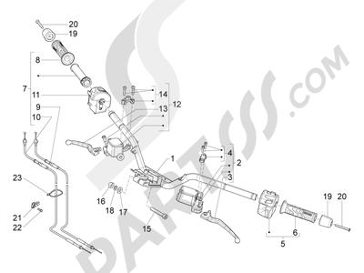 Piaggio X10 125 4T 4V I.E. E3 2012-2013 Manillar - Bomba freno