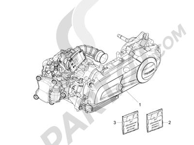 Piaggio X10 125 4T 4V I.E. E3 2012-2013 Motor completo