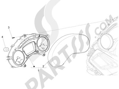 Piaggio X10 125 4T 4V I.E. E3 2012-2013 Tablero de instrumentos - Cruscotto