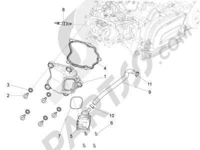 Piaggio X10 125 4T 4V I.E. E3 2012-2013 Tapa culata