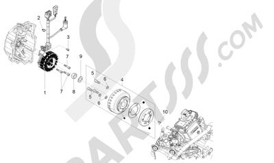 Piaggio X10 125 4T 4V I.E. E3 2012-2013 Volante magnetico