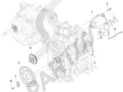Piaggio X10 350 4T 4V I.E. E3 2012-2015 Arranque - Arranque electrico