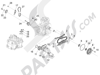 Piaggio X10 350 4T 4V I.E. E3 2012-2015 Bomba de aceite
