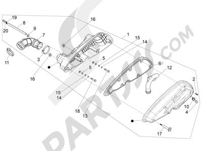 Piaggio X10 350 4T 4V I.E. E3 2012-2015 Filtro de aire